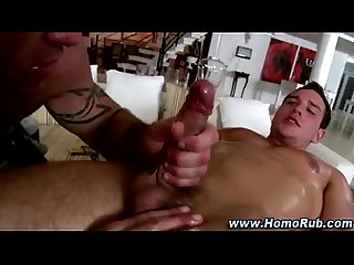 Gay straight guy massage seduction blowjob