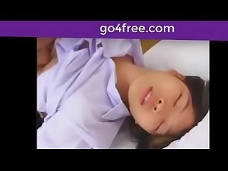 Thai cute school girl eat virgin by a lucky man