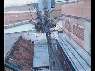 Colombiana se masturba en el balcon 2