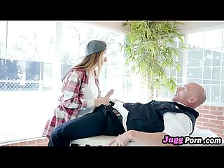 Babe nina north sucks dick security guard for skate