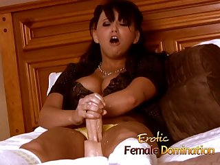 Room service guy dominated by a bossy blonde milf bitch-6
