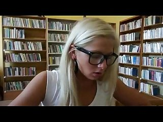 Pretty amateur Czech girl Candy Hot paid for sex in the library