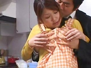 Japan busty wife cook and fuck 1