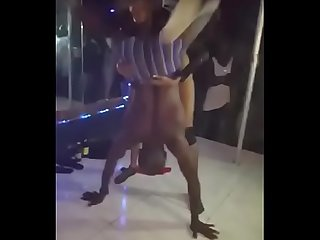 male and female strippers having fun sex in the club