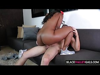 Big Brown Butt Chanell Heart Gets Nailed