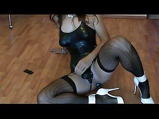 Tranny blanka thommas anal dildo masturbation