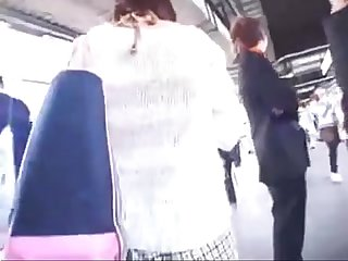 Japanese cutie accosted and fucked on train uncensored