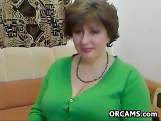 Fat Mature Woman Does A Striptease