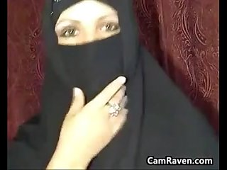 Arab housewife teasing her body