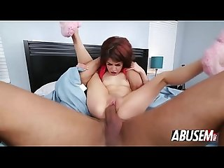 Slim Latina Sally Squirt takes big cock inside tight pussy