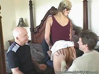 Husband shares his swinger wife