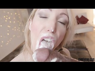 Candy may creamy fuck and blowjob