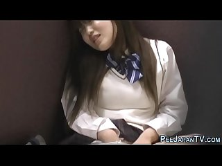 Japanese teen public piss