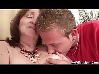 He seduces wifes mother into taboo cock riding