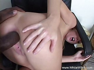 Intense interracial blonde anal milf