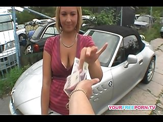 Deep anal fuck on the top of my car