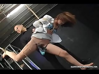 Hairy Pussy Covered In Lingerie Dominated With Rabbit By Maledom Masters