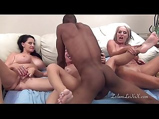 PenisColada - Three Milfs and a Black Cock
