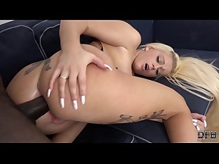 NEW interracial fuck for blonde fucked in ass screaming orgasm and sex