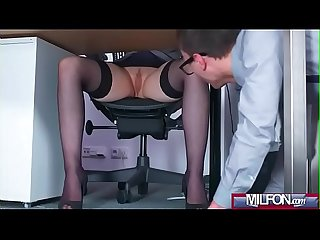 Busty Milf boss fucks big geek cock(Angel Wicky) 01