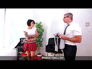 Fucking my Hot Teen Step-Daughter in Uniform