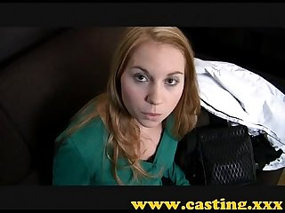 Casting beautiful nervous teen