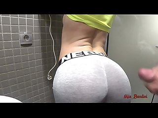 PUBLIC SEX - HORNY FIT TEEN WANTS CUM ON YOGA PANTS. Mia Bandini
