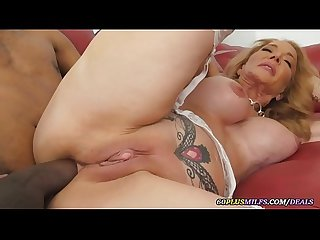busty granny gets anal sex by a big black cock