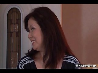 Sexy and horny japanese mature mom