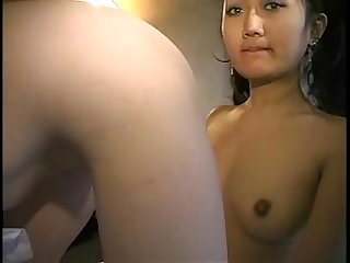 Asian girlfriend asslicking