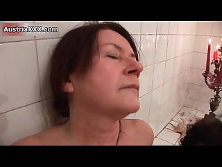 Nasty old lesbians make out in the bath