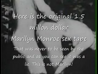 Marilyn Monroe original Zeit Millionen Dollar Sex tapequest