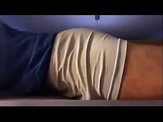 Cum in underwear on bed