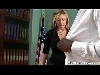 Sara Jay gets her juicy pussy pounded by big black cock in her office