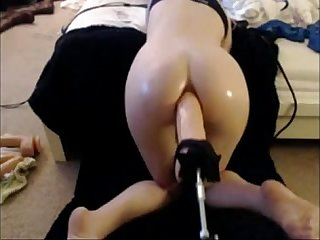 Babe takes big dildo in her Ass by machine xcamvidz period net