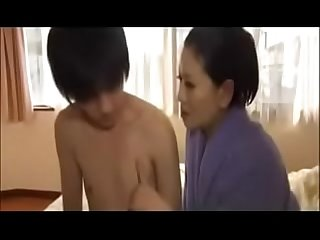 Erotic japanese mom with young son