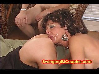 Cum sucking ass eating wives