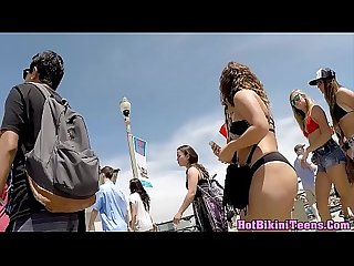 Sexy Bikini teens Spy Cam Voyeur beach big Ass Thongs