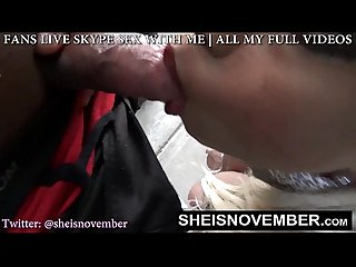Public Blow Job Sneaking Outside To Suck His Cock and Swallow His Heavy Love POV
