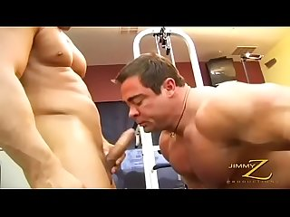 3 muscle daddies playing in The Gym