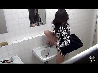 Cute Japanese Piss in a Sink