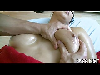 Pleasuring honey with oil massage