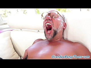 Highheeled eurobabe loves fucking grandpa