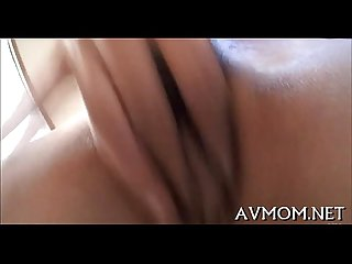 Horny asian milf enjoys jock