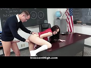InnocentHigh - Popular Cheerleader Fucks Bullied Nerd