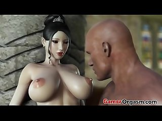 Gamerorgasm com beauty princess and the wild big cock
