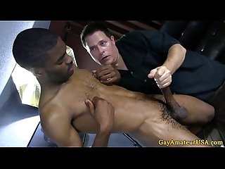 Straight black dudes steamy gay handjob