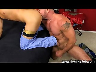 Young gays anal creampie daddy brett obliges of course comma after sharing