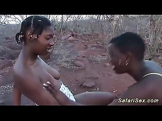 extreme hot outdoor african safari orgy
