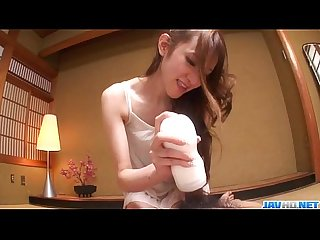 Mai Shirosaki amazes with her lips over a big cock